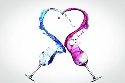 Love A Glass Or Two Art Print by Mark A Hunter