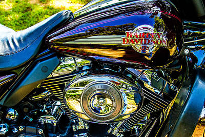 Photograph - Love A Harley - Motorcycle  by Barry Jones