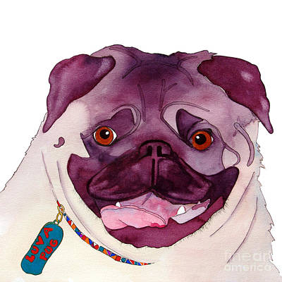 Painting - Love A Pug by Jo Lynch