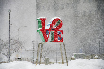 Phillies Digital Art - Love A Snow Storm by Bill Cannon