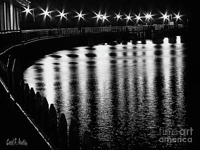 Photograph - Starry Night At The Pier Wall Art by Carol F Austin