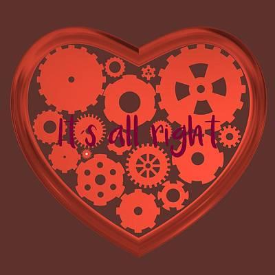 Metal Digital Art - Love All Right by Alberto RuiZ