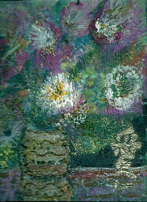 Love And A Daisy  Art Print by Anne-Elizabeth Whiteway