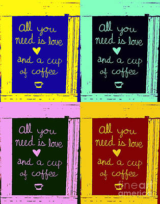 Digital Art - Love And Coffee by John Freidenberg