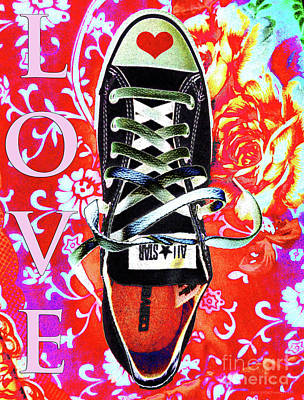 Converse Shoe Digital Art - Love And Converse by Don Pedro De Gracia
