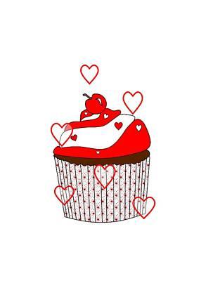 Cute Cupcakes Digital Art - Love And Cupcakes by Kathleen Sartoris