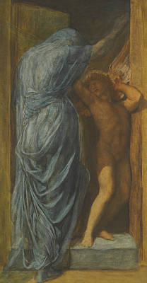 Painting - Love And Death by George Frederic Watts