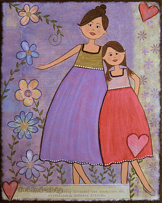 Mother Painting - Love And Friendship by Samantha Shirley