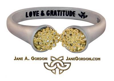 Love And Gratitude Overflowing Diamond Bowls Art Print