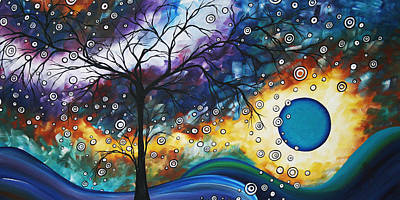 Aqua Painting - Love And Laughter By Madart by Megan Duncanson