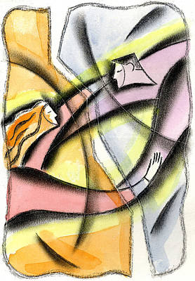 Flirtation Painting - Love And Liberty by Leon Zernitsky