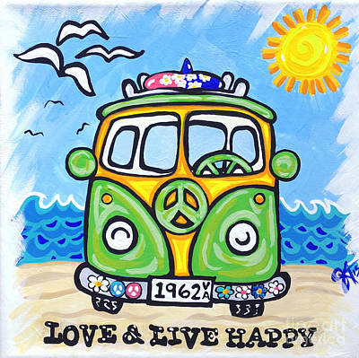 Love And Live Happy Original by Jackie Carpenter