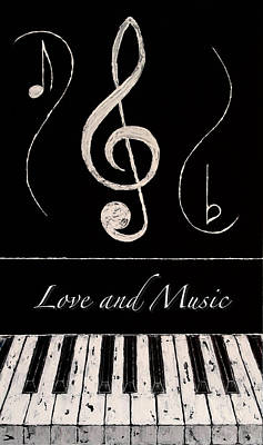 Love And Music Art Print by Wayne Cantrell