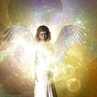 Digital Art - Love And Peace Angel  by Riana Van Staden