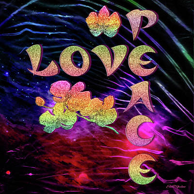 Digital Art - Love And Peace - Digital Art by Ericamaxine Price