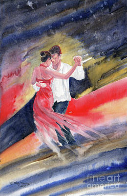 Painting - Love And Tango 2 by Melly Terpening