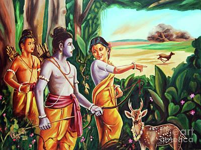 Love And Valour- Ramayana- The Divine Saga Art Print