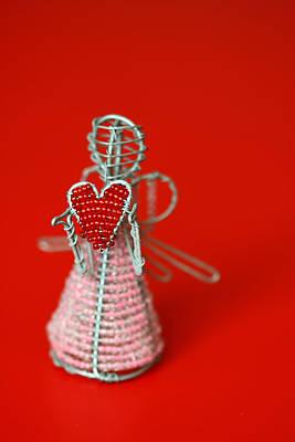 Red Beads Photograph - Love Angel by Evelina Kremsdorf