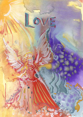 Love Angel Art Print