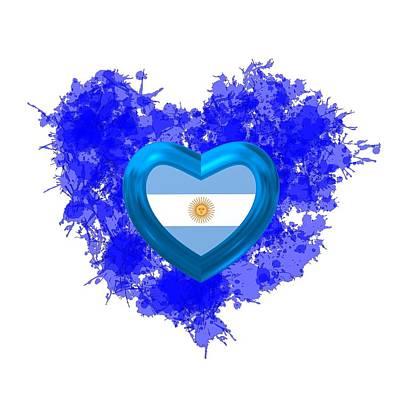 Heart Digital Art - Love Argentina by Alberto RuiZ