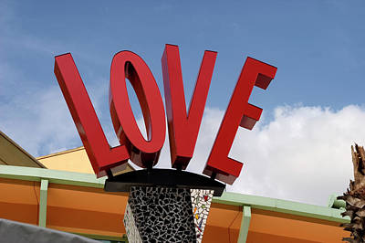 Photograph - Love At Downtown Disney  by Carl Purcell