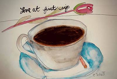 Painting - Love At First Sip by Christina Schott