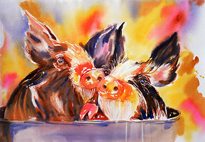 Painting - Love At First Snout by Tara Moorman