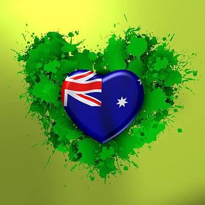 Patriot Digital Art - love Australia, by Alberto RuiZ