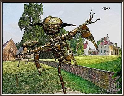 Statue Portrait Digital Art - Love Between Scarecrow And Bird 33 by Pemaro