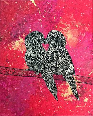 Painting - Love Birds by Artistic Indian Nurse