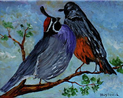 Painting - Love Birds by Brian Hustead