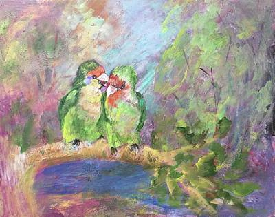 Painting - Love Birds by Charme Curtin