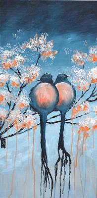 Painting - Love Birds by Holly Donohoe