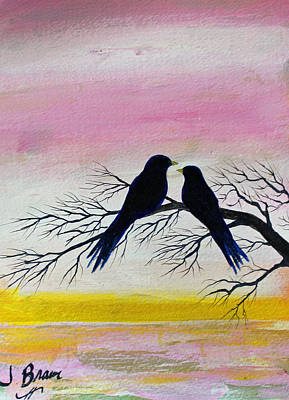Painting - Love Birds by Jack G  Brauer