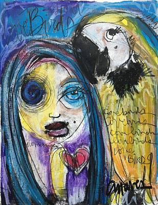 Painting - Love Birds by Laurie Maves ART
