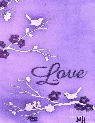 Love Birds Art Print by Marsha Heiken