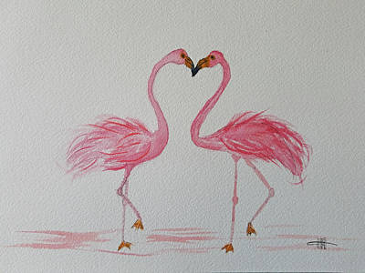 Painting - Love Birds by Maura Satchell