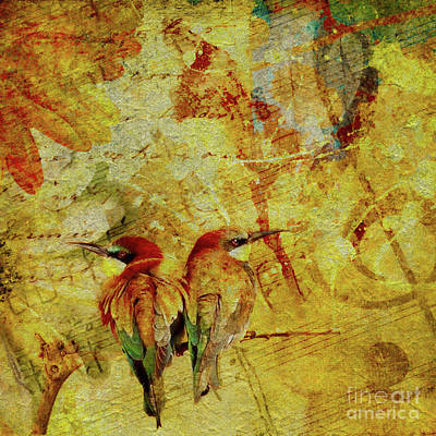 Digital Art - Love Birds by Olga Hamilton