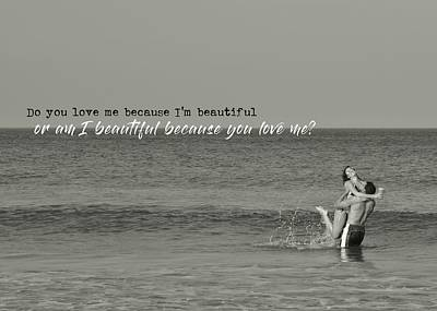 Photograph - Love Birds Quote by JAMART Photography