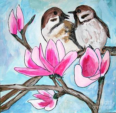 Painting - Love Birds by Victoria Hasenauer