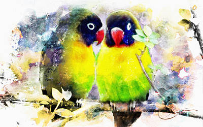 Painting - Love Birds2 by Robert Smith