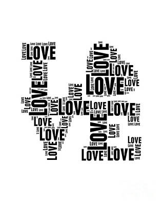 Love Black And White Art Print