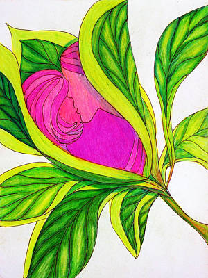 Drawing - Love Blossoms by Barbara J Blaisdell