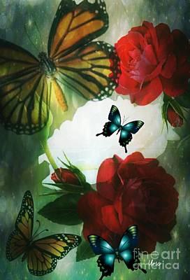 Digital Art - Love Blossoms by Maria Urso