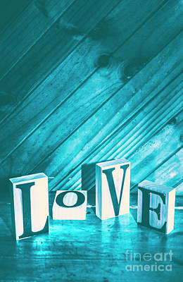 Words Background Photograph - Love Blues by Jorgo Photography - Wall Art Gallery