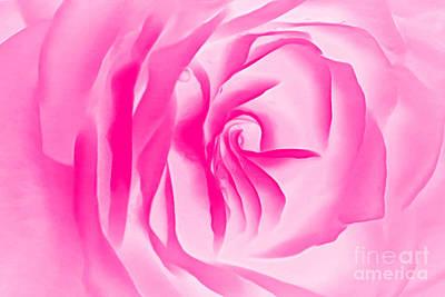 Pink Rose Digital Art - Love Blush by Krissy Katsimbras
