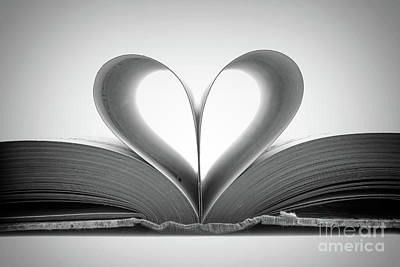 Love Book Art Print by Delphimages Photo Creations