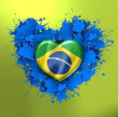 Emotion Digital Art - Love Brazil by Alberto RuiZ