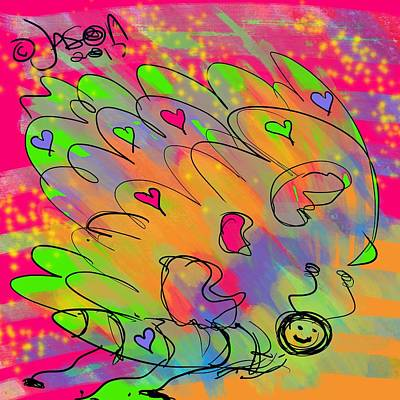 Mixed Media - Love Bug by Jason Nicholas