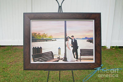 Wall Art - Painting - Love By The Bay by Julie Clyde